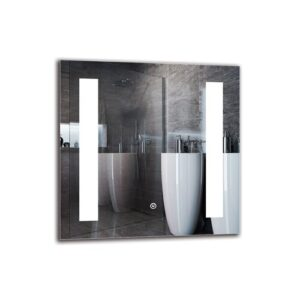 Nigol Bathroom Mirror Metro Lane Size: 50cm H x 50cm W