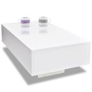 Nocona Coffee Table Mercury Row Colour: White, Size: H31 x L85 x W55cm