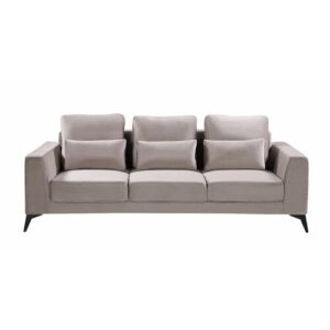 Nora 3 Seater Sofa Canora Grey Upholstery colour: Champagne