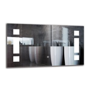 Norhad Bathroom Mirror Metro Lane Size: 40cm H x 70cm W