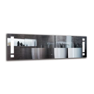 Norhad Bathroom Mirror Metro Lane Size: 50cm H x 150cm W
