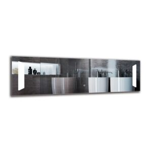 Norvan Bathroom Mirror Metro Lane Size: 40cm H x 130cm W