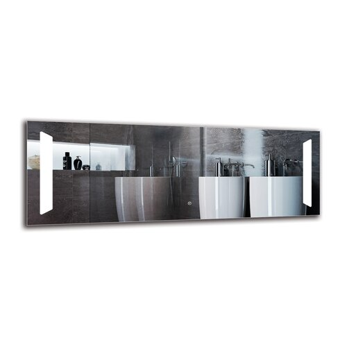 Norvan Bathroom Mirror Metro Lane Size: 50cm H x 140cm W