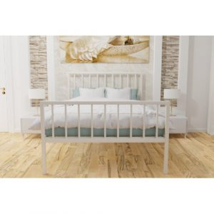 Offerman Bed Frame Williston Forge Colour: Ivory, Size: Double (4'6)
