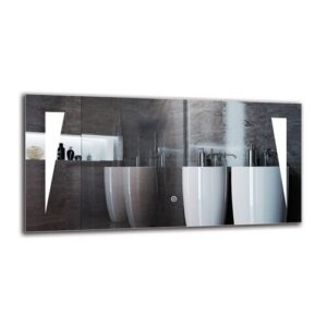 Ohan Bathroom Mirror Metro Lane Size: 40cm H x 80cm W