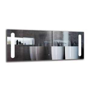 Onnig Bathroom Mirror Metro Lane Size: 50cm H x 120cm W