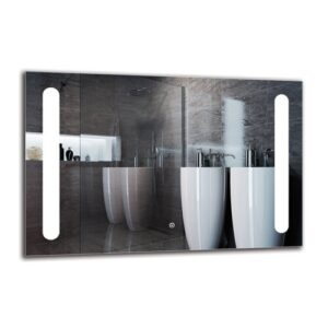 Onnig Bathroom Mirror Metro Lane Size: 60cm H x 90cm W