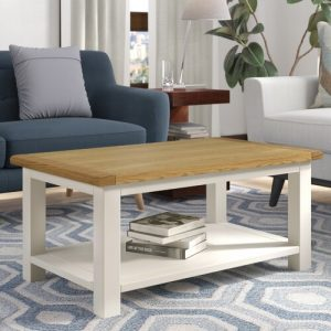 Open Coffee Table with Storage Brambly Cottage