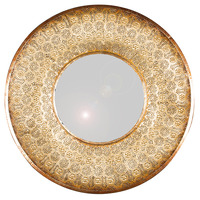 Pacific Lifestyle πpe; Gold Metal Round Wall Mirror