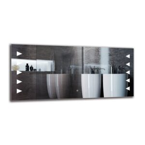 Pakrat Bathroom Mirror Metro Lane Size: 60cm H x 130cm W
