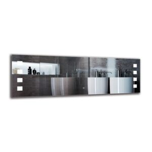 Paramaz Bathroom Mirror Metro Lane Size: 50cm H x 150cm W