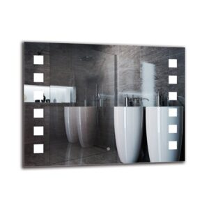 Paramaz Bathroom Mirror Metro Lane Size: 70cm H x 90cm W