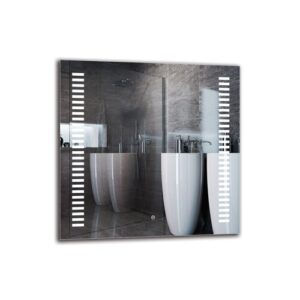 Paylag Bathroom Mirror Metro Lane Size: 80cm H x 80cm W