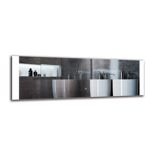Peklar Bathroom Mirror Metro Lane Size: 40cm H x 120cm W