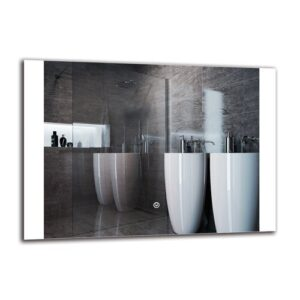 Peklar Bathroom Mirror Metro Lane Size: 50cm H x 70cm W