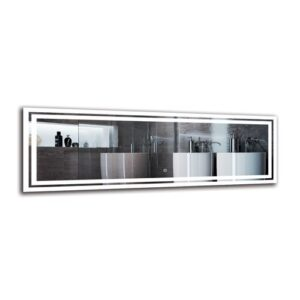 Picadilly Bathroom Mirror Metro Lane Size: 40cm H x 120cm W