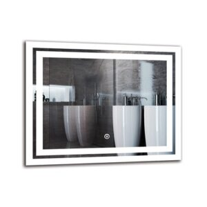 Picadilly Bathroom Mirror Metro Lane Size: 40cm H x 50cm W