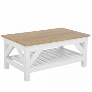Pinewood Coffee Table Bloomsbury Market Table Top Colour: Light Wood
