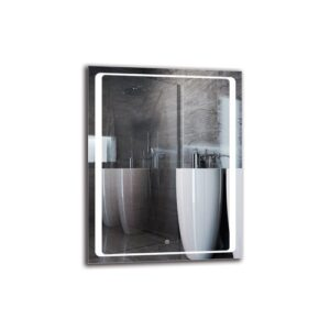 Portnoy Bathroom Mirror Metro Lane Size: 90cm H x 70cm W
