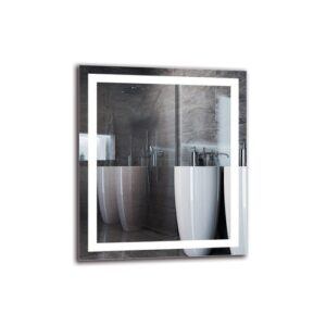 Pym Bathroom Mirror Metro Lane Size: 70cm H x 60cm W