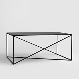 Quiana Coffee Table Metro Lane Size: H45 x L100 x W60cm, Colour: Black
