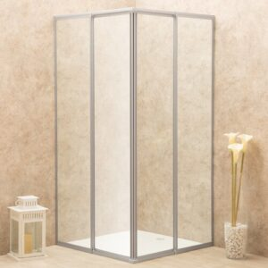 Rachmadewi Adjustable Rectangular Shower Enclosure Belfry Bathroom Size: 185cm H x 81cm W x 81cm D