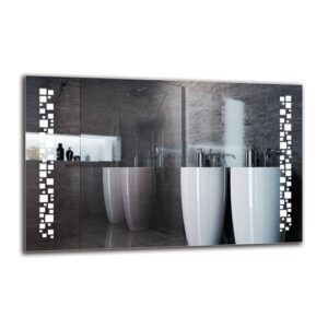 Rayhan Bathroom Mirror Metro Lane Size: 70cm H x 110cm W