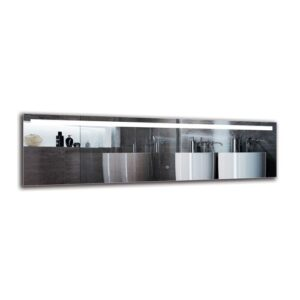 Roupen Bathroom Mirror Metro Lane Size: 40cm H x 140cm W