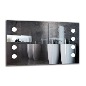 Ruari Bathroom Mirror Metro Lane Size: 50cm H x 80cm W