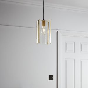 Saiphi Gold effect Pendant ceiling light