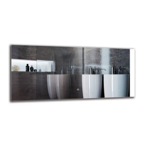 Saro Bathroom Mirror Metro Lane Size: 50cm H x 110cm W