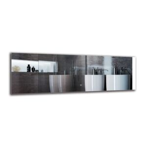 Saro Bathroom Mirror Metro Lane Size: 50cm H x 150cm W