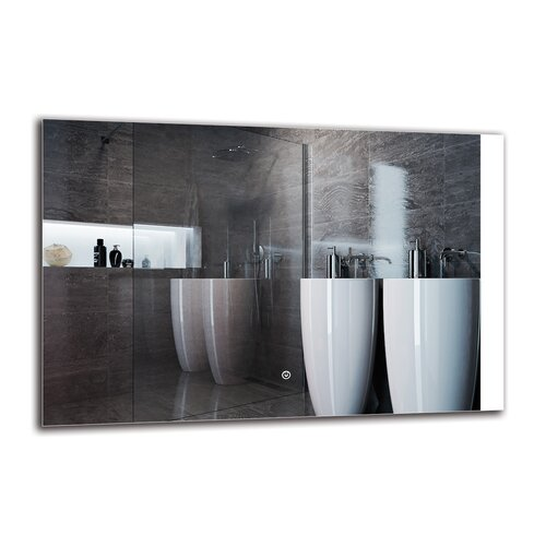 Saro Bathroom Mirror Metro Lane Size: 60cm H x 90cm W