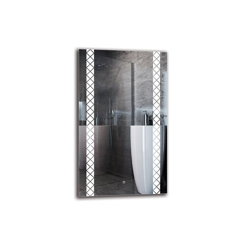 Sebuh Bathroom Mirror Metro Lane Size: 100cm H x 60cm W