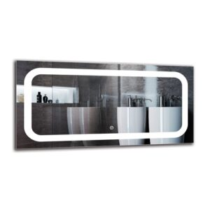 Sergius Bathroom Mirror Metro Lane Size: 40cm H x 80cm W