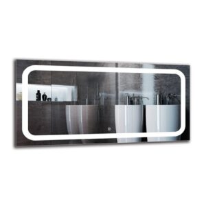 Sergius Bathroom Mirror Metro Lane Size: 50cm H x 100cm W