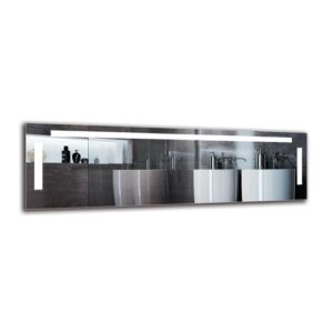 Sid Bathroom Mirror Metro Lane Size: 40cm H x 130cm W