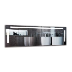 Sid Bathroom Mirror Metro Lane Size: 50cm H x 140cm W