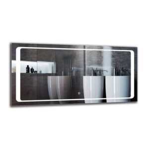 Thalweg Bathroom Mirror Metro Lane Size: 50cm H x 100cm W