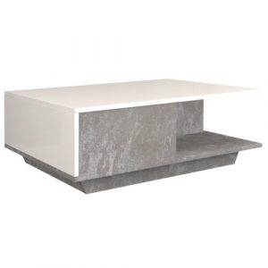 Theresa Coffee Table with Storage Zipcode Design Farbe (Gestell): White/White gloss