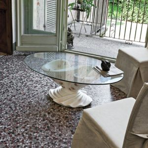 Theydon Coffee Table Astoria Grand Base colour/Table top finish: White patinated/Bevelled