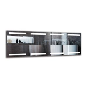 Tiegan Bathroom Mirror Metro Lane Size: 50cm H x 140cm W