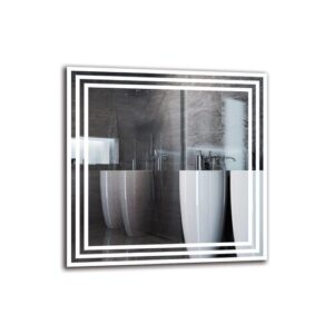 Ufomba Bathroom Mirror Metro Lane Size: 50cm H x 50cm W