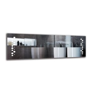 Zaki Bathroom Mirror Metro Lane Size: 40cm H x 120cm W