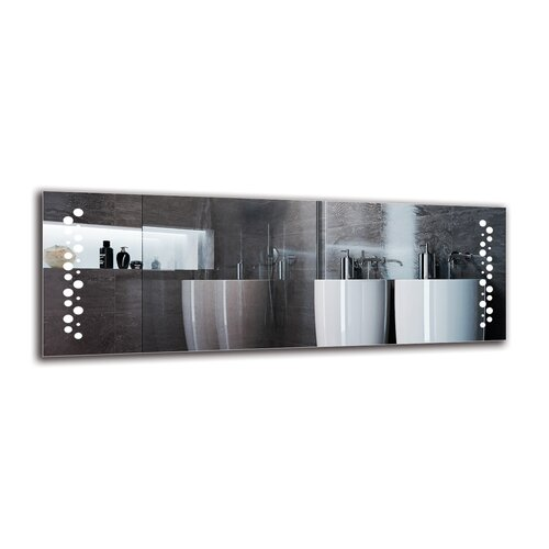 Zaki Bathroom Mirror Metro Lane Size: 50cm H x 140cm W