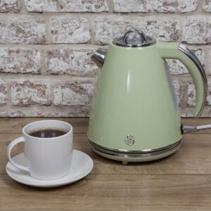 1.5 L Stainless Steel Electric Kettle Swan Colour: Light Green