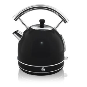 1.8L Stainless Steel Electric Kettle Swan Colour: Black