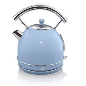 1.8L Stainless Steel Electric Kettle Swan Colour: Blue
