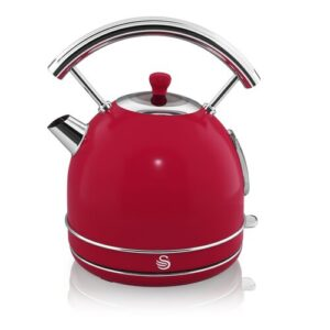 1.8L Stainless Steel Electric Kettle Swan Colour: Red