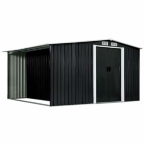 11 ft. W x 10 ft. D Metal Garden Shed WFX Utility Colour: Anthracite